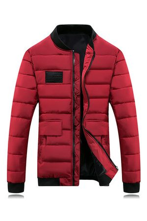Newchic Men Winter Jackets - Cotton Padded Winter Coat