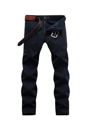 Newchic Mens 100% Cotton Multi-pocket Cargo Pants