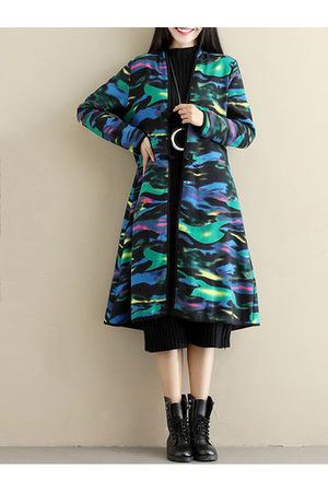 Newchic Women Coats - Ethnic Floral Multi-Color Thicken Women Coats