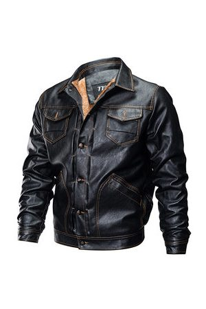 Newchic Casual Thicken Moto Leather Jacket
