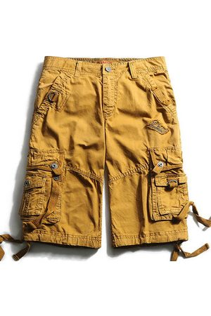 Newchic Men Cargo Pants - Casual Multi-Pocket Embroidery Cotton Loose Plus Size Cargo Shorts For Men