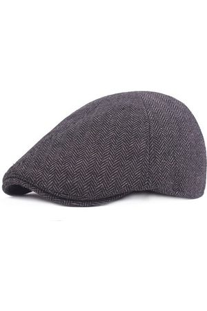 Newchic Men Caps - Cotton Lattice Plain Beret Cap