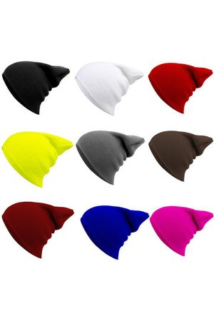 Newchic Solid Elastic Hip-hop Knitted Beanies Hat