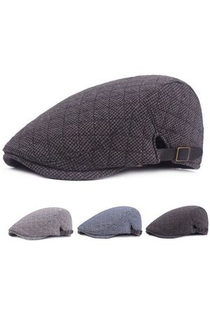 Newchic Men Caps - Cotton Cozy Lattice Beret Cap