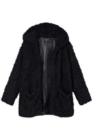 Newchic Casual Noble Fall Winter Warm Hooded Furry Coat Outwear