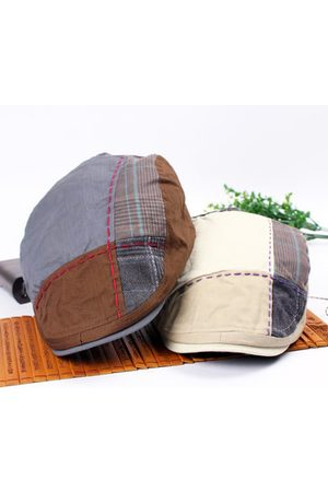 Newchic Casual Cotton Patchwork Sunshade Beret Hat