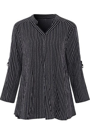 Newchic Casual Vertical Striped Long Sleeves Shirts
