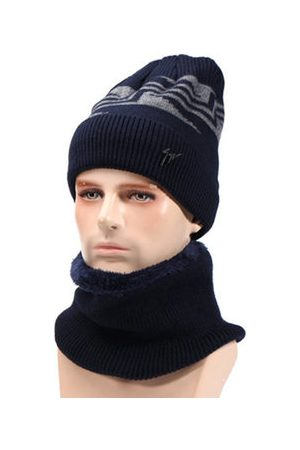 Newchic Men Caps - Knit Woolen Hat Beanie Cap And Scarf