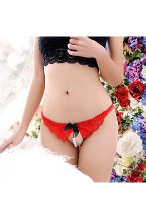 Newchic Sexy Transparent Open Crotch Thongs