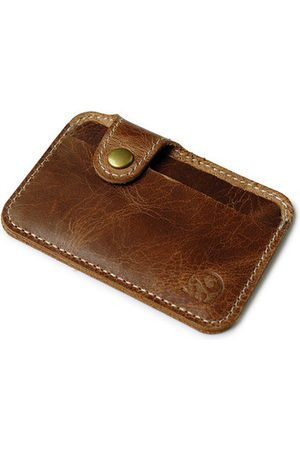 Newchic Men Wallets - Simple Genuine Leather Card Holder