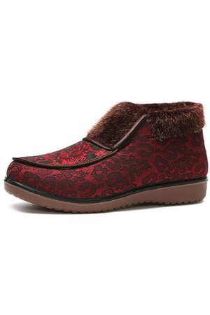 Newchic Flower Printting Vintage Boots