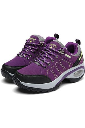 Newchic Women Shoes - Suede Cushion Outdoor Sport Hiking Shoes