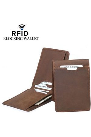 Newchic RFID Antimagnetic Genuine Leather Card Holder