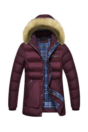 Newchic Mens Winter Thicken Mid Long Coats