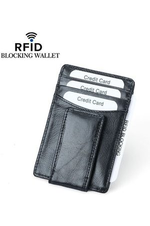 Newchic RFID Antimagnetic Men Genuine Leather Business Card Holder