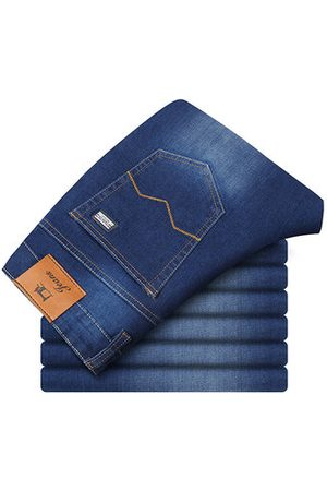 Newchic Men Jeans - Loose Elastic Solid Color Jeans