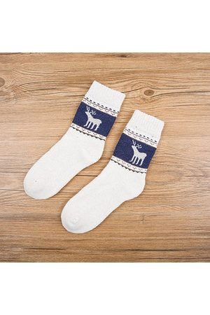 Newchic Men Socks - Winter Thickening Pronghorn Middle Tube Socks