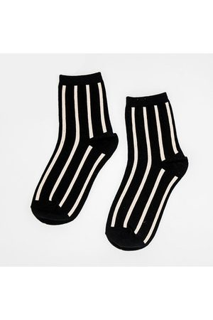 Newchic Cottom Thickening Stripe Middle Tube Socks