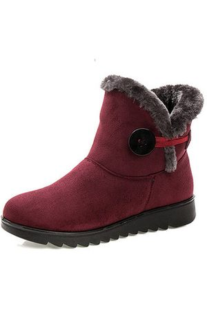 Newchic Women Snow Boots - Buckle Comfy Keep Warm Snow Boots