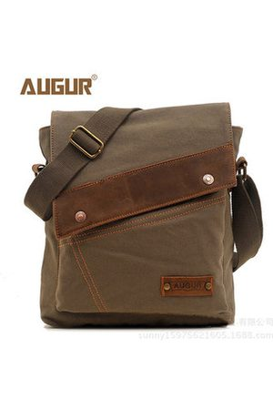 Newchic Men Laptop Bags - Men Casual Vintage Business Outdoor Crossbosy Bag Canvas Leisure Shoulder Bag