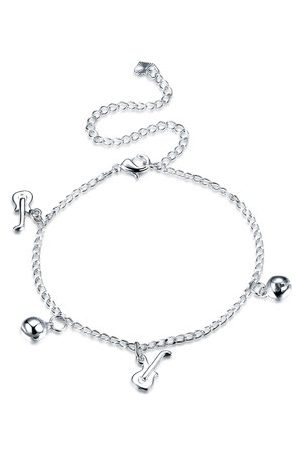 Newchic Women Anklets & Toe-rings - YUEYIN Guitar Bell Charm Anklet