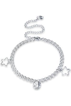 Newchic Women Necklaces - YUEYIN Star Pendant Silver Anklet