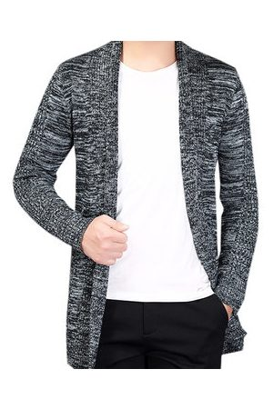 Newchic Mens Fashion Turn-Down Collar Long-Sleeved Cardigan