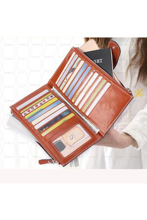 Newchic Vintage Genuine Leather Multi-slots Card Holder Wallet