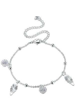 Newchic Women Anklets & Toe-rings - YUEYIN Silver Rhinestone Charm Anklet