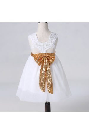 Newchic Lace Big Bow Girl Dresses