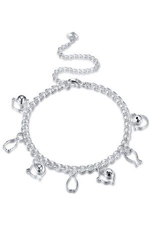 Newchic Women Necklaces - YUEYIN Fish Cat Pendant Silver Anklet