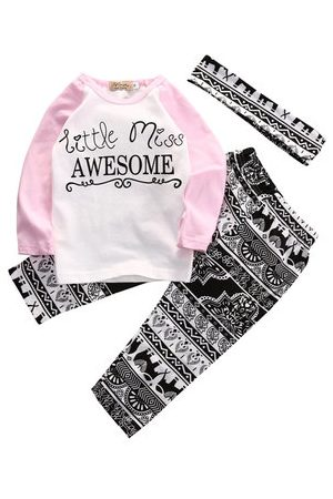 Newchic Printed Kid Girls Clothes Set