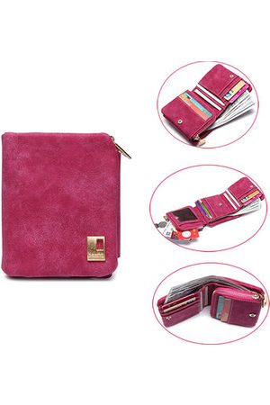 Newchic Dull Polish PU Leather Folding Wallet Card Holder Casual Short Purse