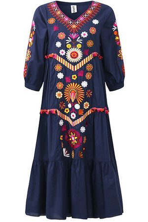 Newchic Folk Style Embroidered Maxi Dresses