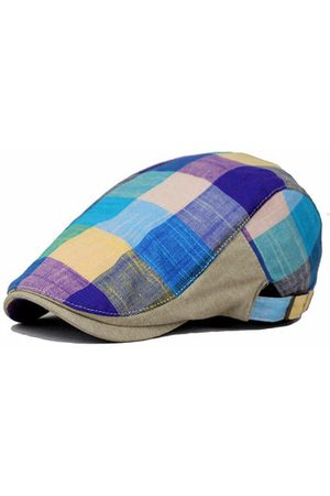Newchic Cotton Colorful Plaid Beret Cap