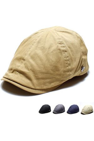 Newchic Men Caps - Vintage Washed Cotton Solid Beret Cap
