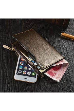 Newchic Men Middle Long Casual Business Wallet Cash Cards Coins Bags