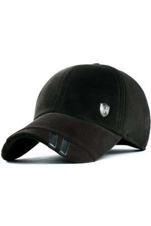 Newchic Men Suede With Earflaps Warm Baseball Hat