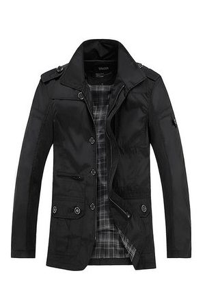 Newchic Mens Business Casual Thin Trench Coats