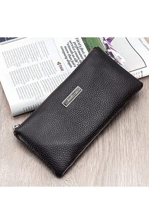 Newchic Genuine Leather Long Wallet Phone Bag For Men