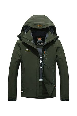 Newchic Spring Autumn Outdoor Sport Water Resistant Windproof Soft Shell Hooded Jacket for Men