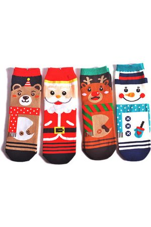 Newchic Men Socks - Christmas Socks Christmas Decorations Middle Tube Socks