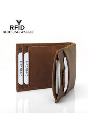 Newchic Genuine Leather RFID Antimagnetic Card Holder Wallet