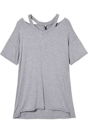 Newchic Women Short Sleeve - Loose Women Solid V-Neck Hollow Out T-Shirt