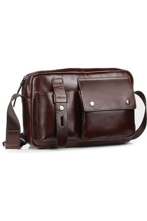 Newchic Men Genuine Leather Casual Business Crossbody Bag