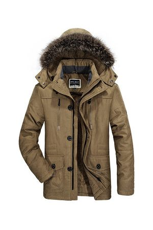 Newchic Men Winter Jackets - Winter Thicken Detachable Jacket