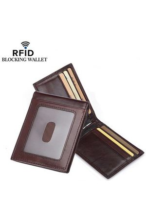 Newchic RFID Antimagnetic Genuine Leather Men Business Card Holder