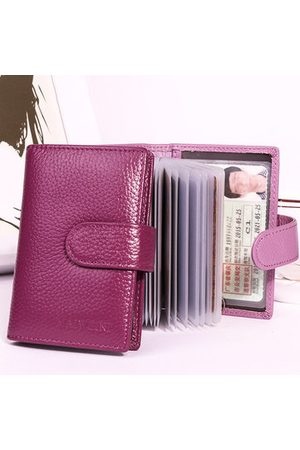 Newchic Women Wallets - Genuine Leather 20 Card Slots Card Holder