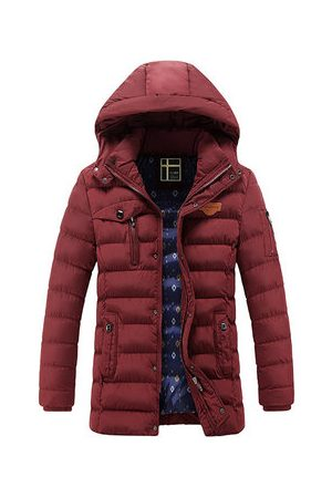 Newchic Men Parkas - Mid Long Cotton Padded Coat