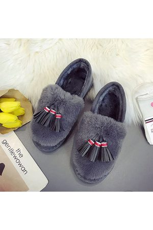 Newchic Bow Tassels Warm Flat Loafers